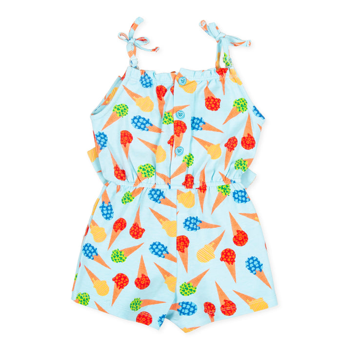 Girls Agatha Ruiz De La Prada Helado Blue Ice Cream Playsuit