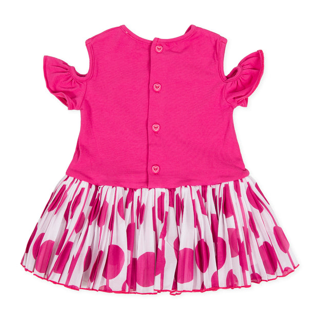 Girls Agatha Ruiz De La Prada Motas Fuchsia & White Heart Dress