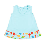 Girls Agatha Ruiz De La Prada Helado Blue Ice Cream Dress