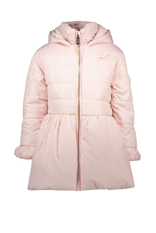 Le Chic Pink Bow Back Coat