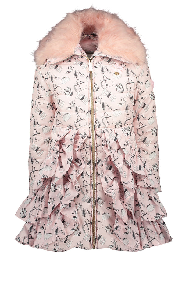 Le Chic Pink Print Coat