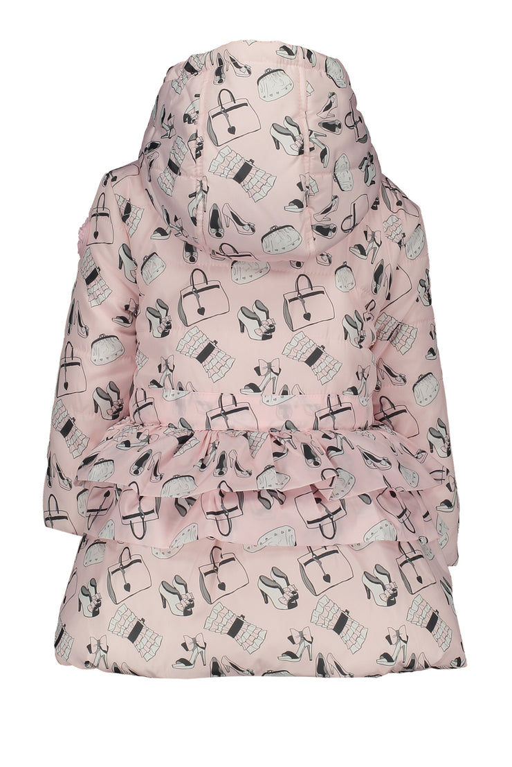 Le Chic Baby Pink Print Coat