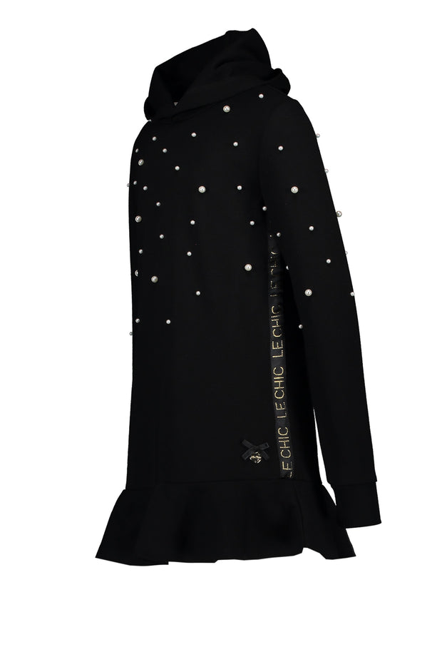 Le Chic Black Sweater Dress