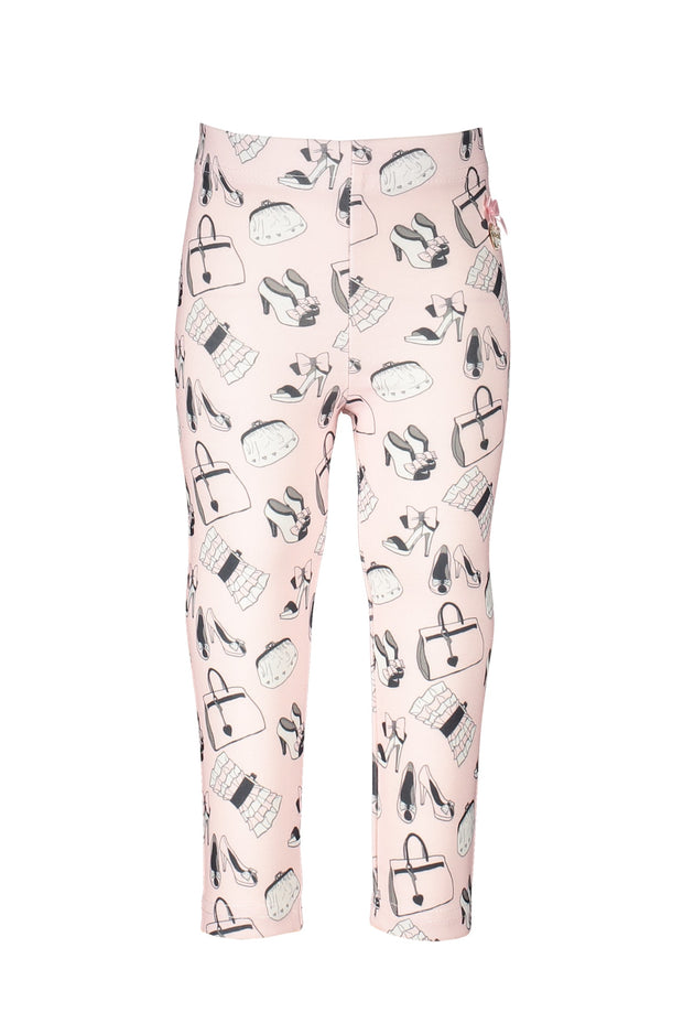 Le Chic Baby Pink Print Legging Set