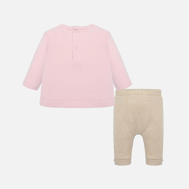 Girls Mayoral Pink & Gold Bunny Legging Set