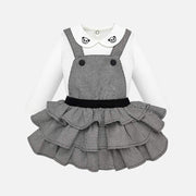 Girls Mayoral Black & White Skirt Set