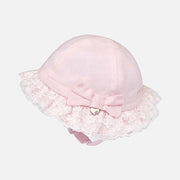 Girls Mayoral Baby Pink Dress & Sun Hat