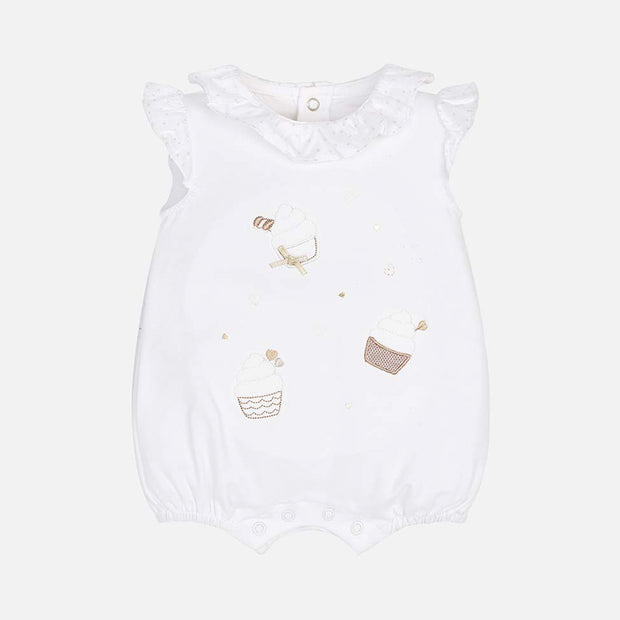 Girls Mayoral Cupcake Short Romper