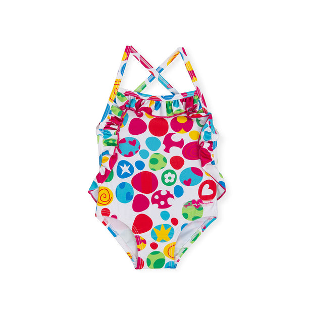 Girls Agatha Ruiz de la Prada Multicoloured Patterned Swimsuit