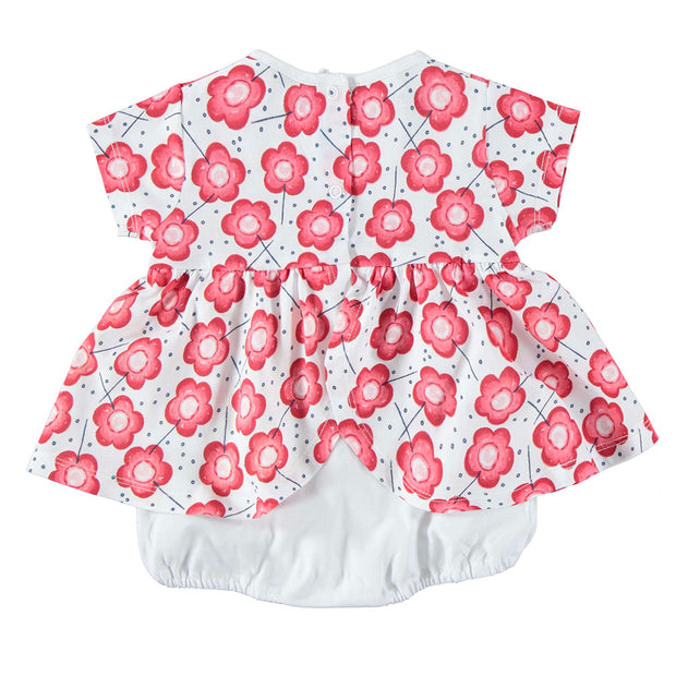 Girls iDo Red Floral Skirt Romper
