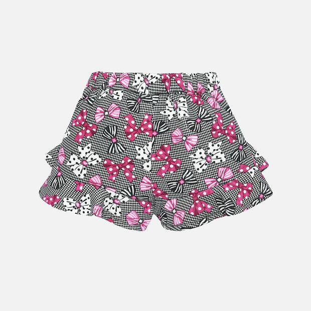 Girls Mayoral Bow Print Shorts Set