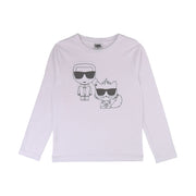 Boys Karl Lagerfeld Kids White Long Sleeved T-Shirt