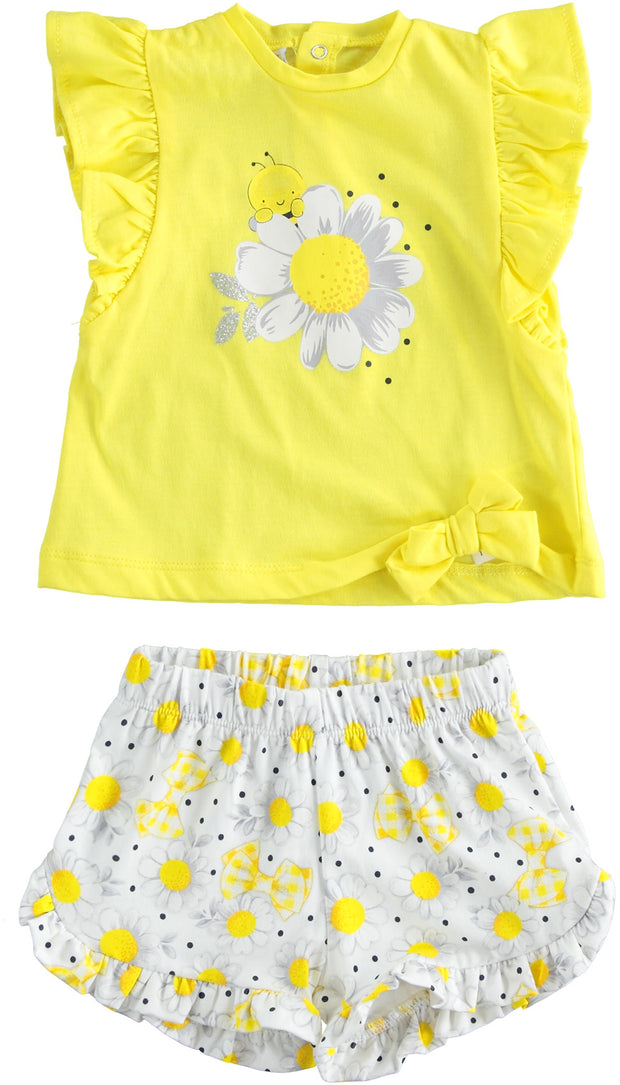 Girls Baby iDo Yellow Daisy Shorts Set