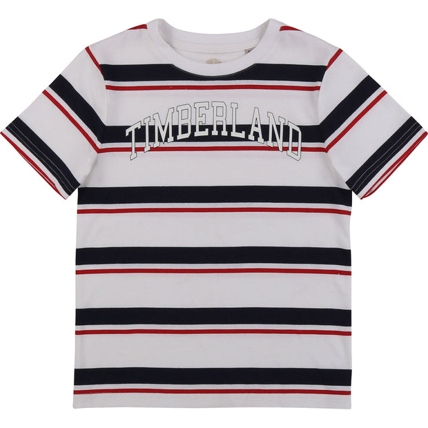 Boys Timberland Stripe Shorts Set