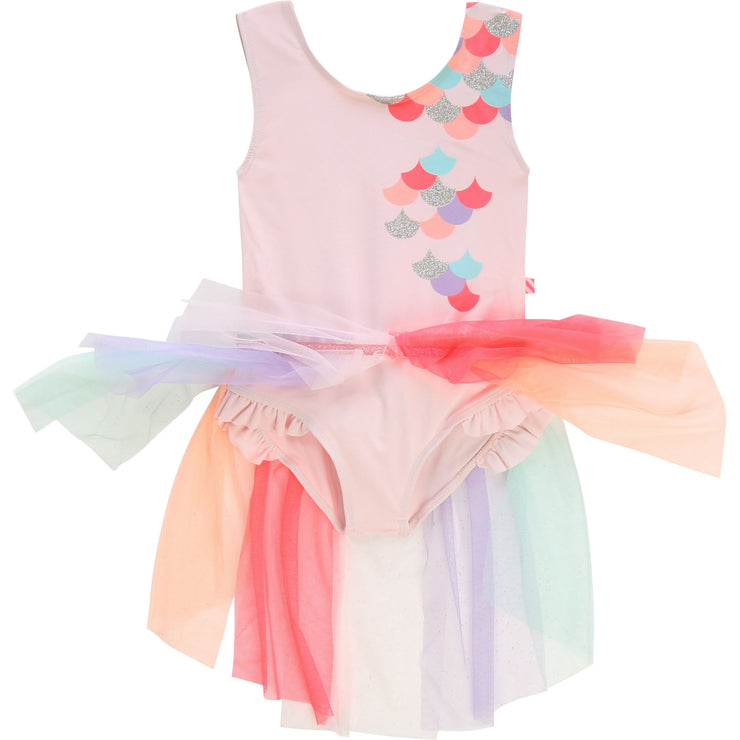 Girls Billieblush Pink Mermaid Swimsuit