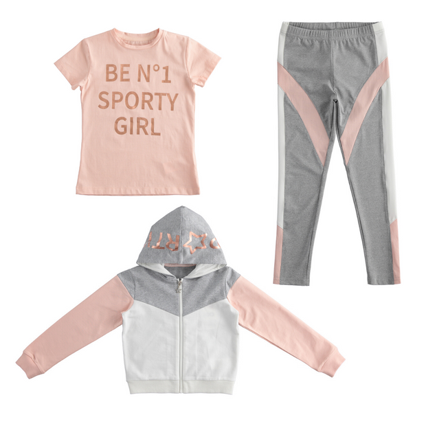 Pre-order iDo 3 Piece Grey Legging Set