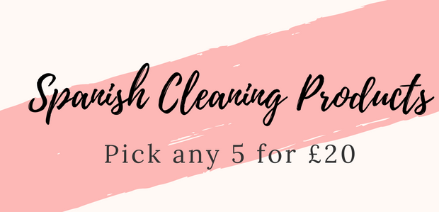 Spanish Cleaning Products 5 for £20.