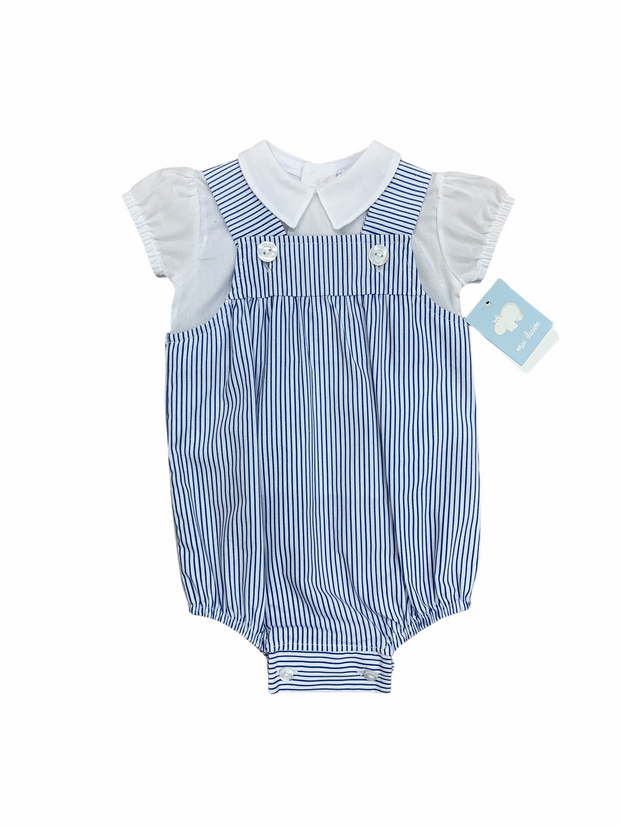 Mac Ilusion Blue & White Romper and Shirt