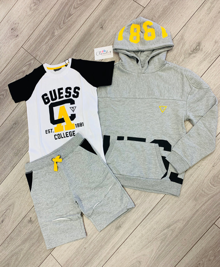 Boys Guess 3 Piece Grey Shorts Set