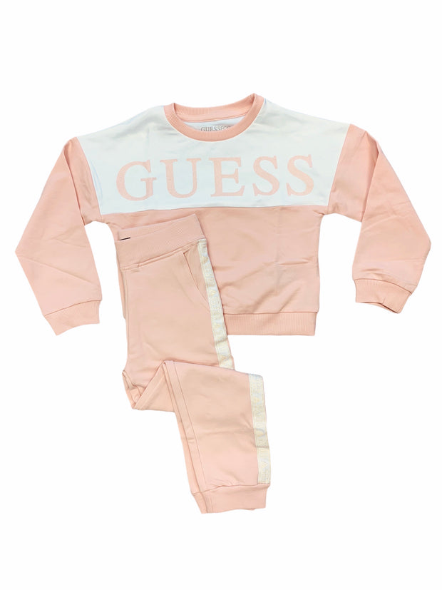 Guess Light Pink Tracksuit