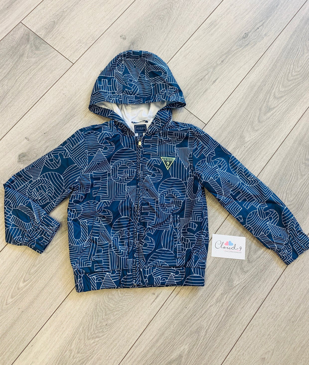Boys Guess Navy Hooded Jacket