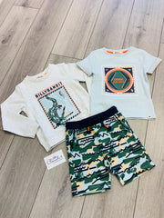 Boys Billybandit Crocodile 3 piece Shorts Set