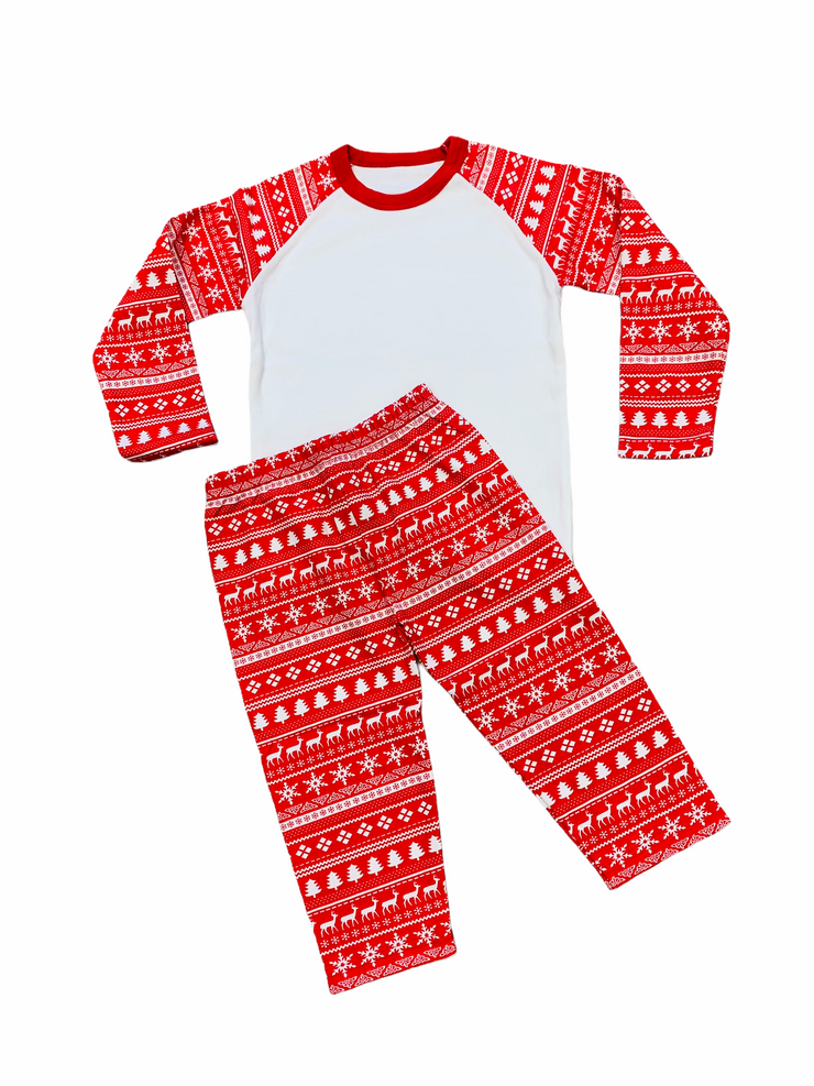 Christmas Pyjamas red & white
