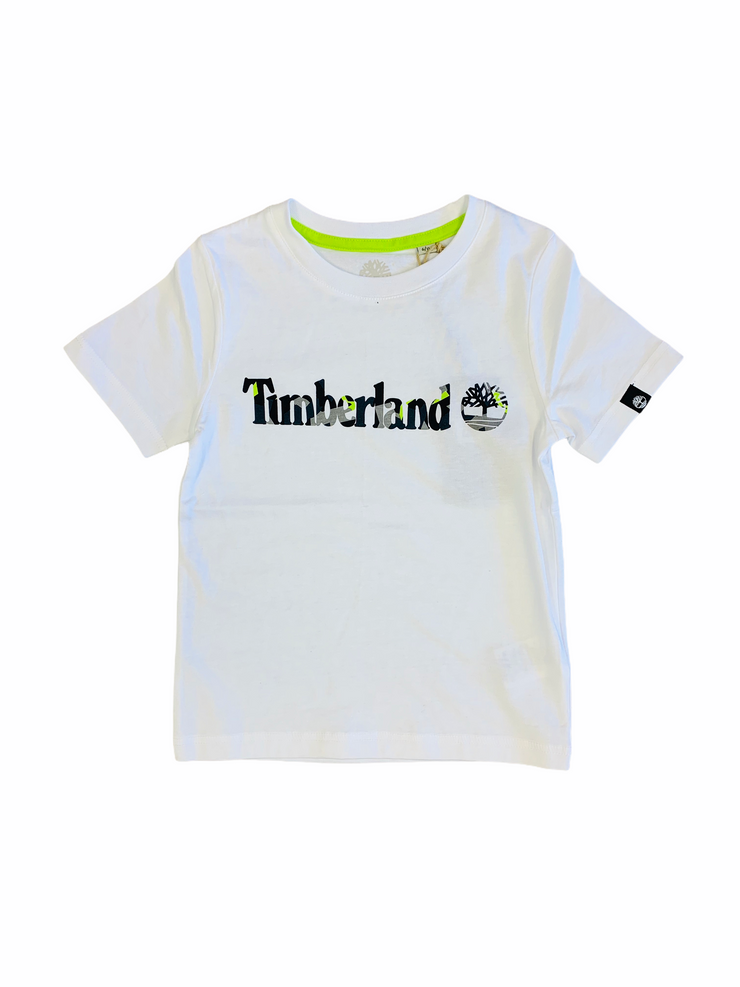 Timberland White Short Sleeve T-shirt
