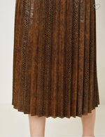 Load image into Gallery viewer, Snake Pleated Midi Skirt 203
