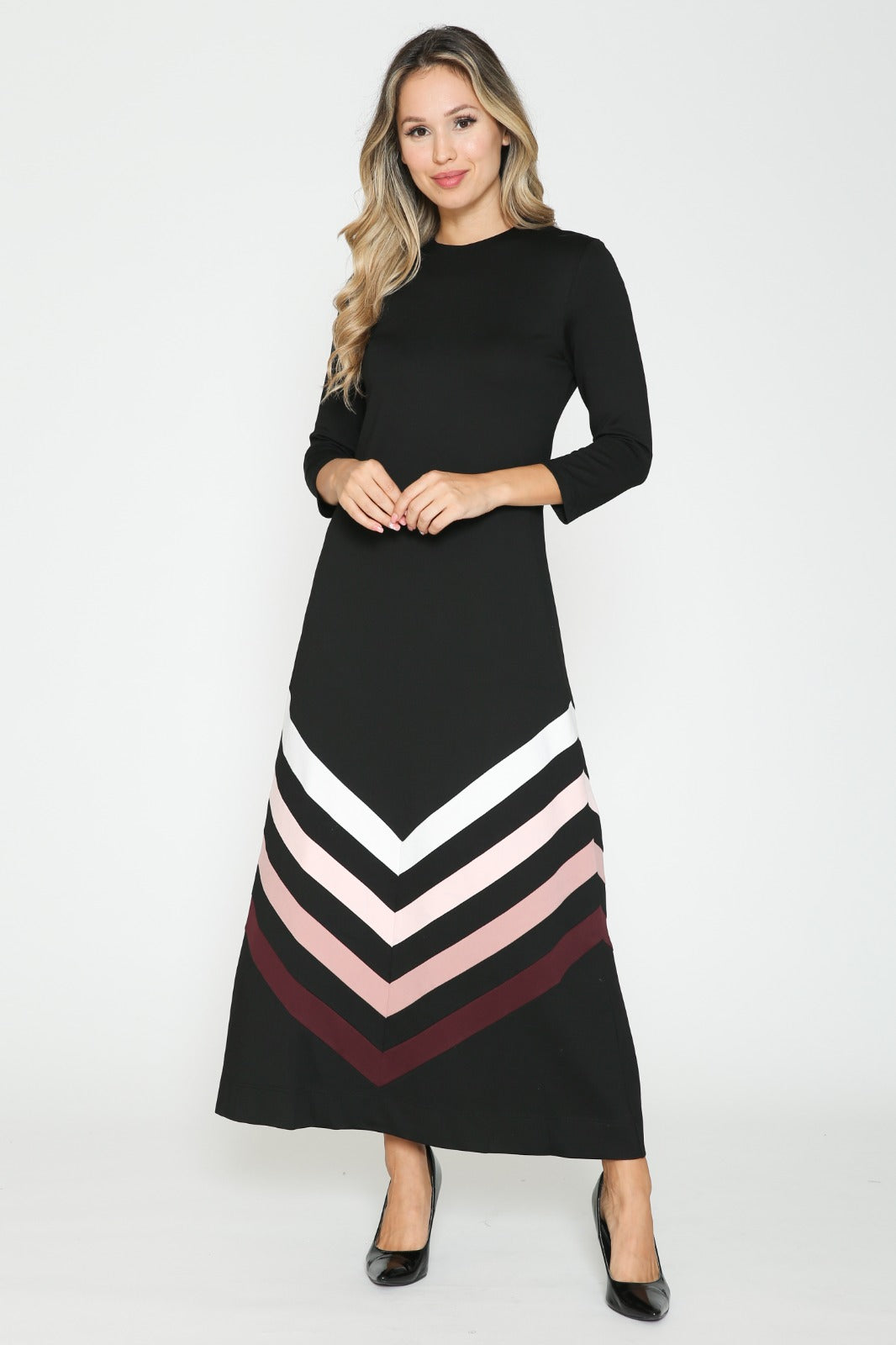Chevron Stripes Dress