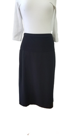 Load image into Gallery viewer, Black Maternity Pencil Skirt