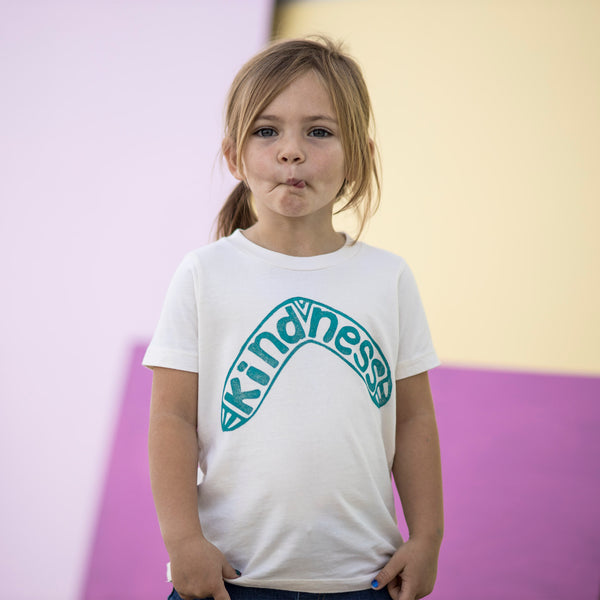 Kindness Boomerang: Limited Edition Organic Cotton Hand Pressed Tee
