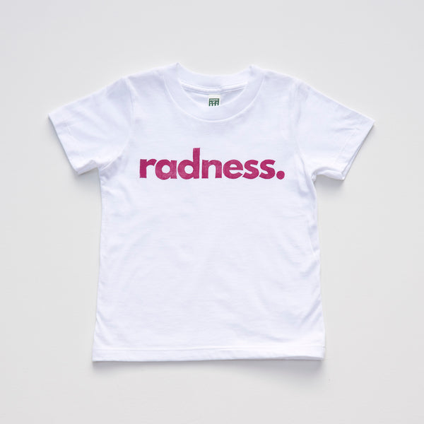 Radness.: Limited Edition Organic Cotton Hand Pressed Tee