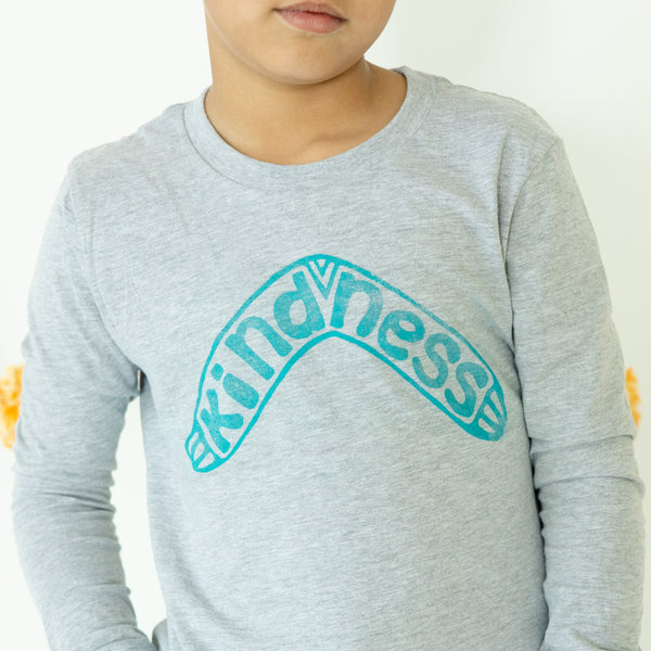 Kindness Boomerang: Limited Edition Hand Pressed Long Sleeve Tee