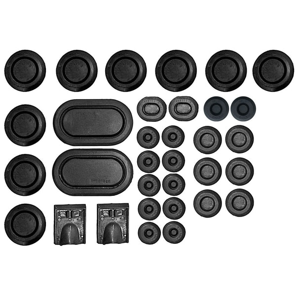 1967 Mustang / Cougar Rubber Body Plug Kit - 33 piece set