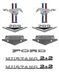 1965-66 FASTBACK HI PERFORMANCE EMBLEM KIT