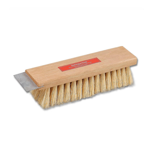 Brick Cleaning Brush with Metal Scraper