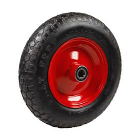 Wheelbarrow Wheel, Heavy Duty, Flat Free - Wide 100 mm deep Hub