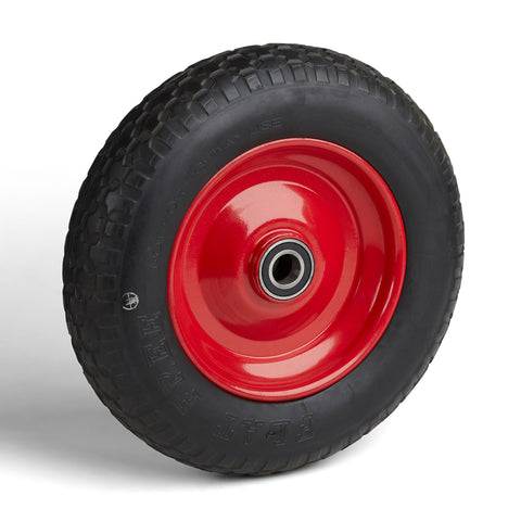 Wheelbarrow Wheel, Heavy Duty, Flat Free - Narrow 55mm deep Hub