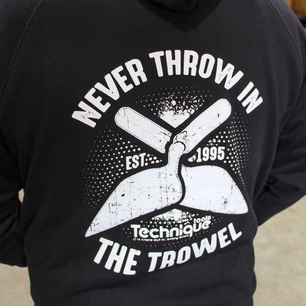 Pullover Fleece Hoodie - Never Throw In The Trowel