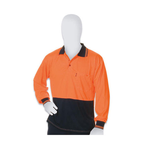 Polo Shirt Hi-Vis Long Sleeve
