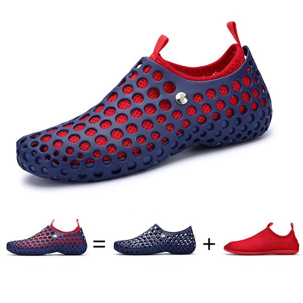 ca2392f6d Men Mesh Breathable Light Two Way Wearing Slip On Beach Sandals