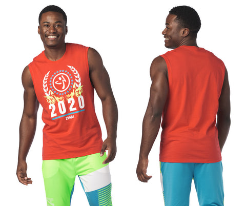 1 LEFT / LG - Zumba 2020 Men's Muscle Tank