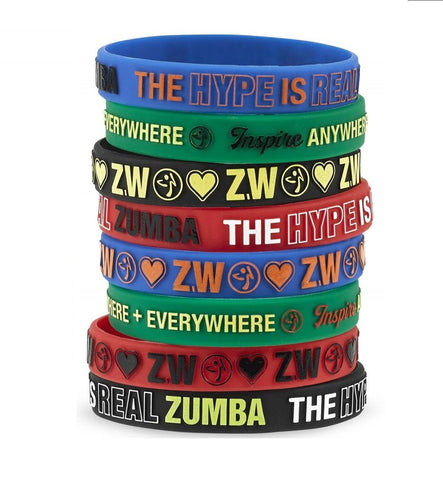 Zumba Everywhere Rubber Bracelets (8 PK)