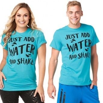 Just Add Water Aqua Zumba INSTRUCTOR Tee