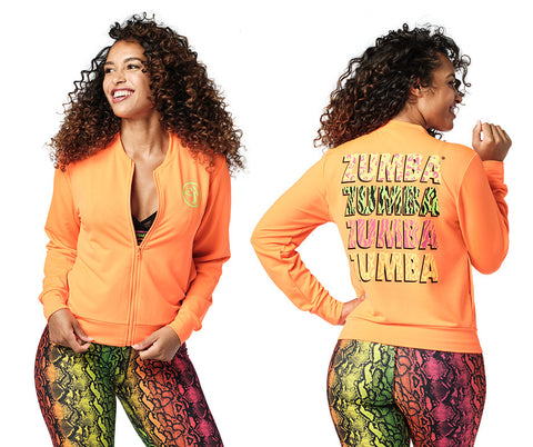 Wild For Zumba Zip-Up Jacket