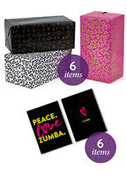 Peace Love Zumba Gift Wrap Set (12 PCS)