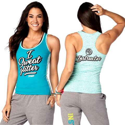 I Sweat Glitter INSTRUCTOR Racerback