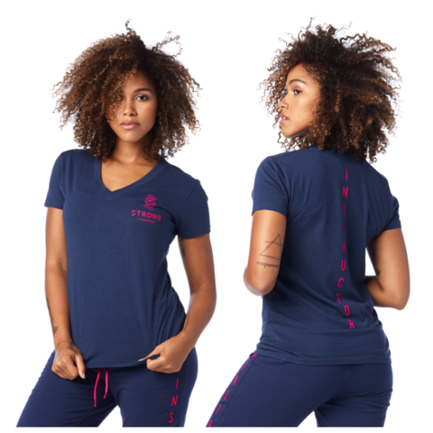 Bold Black Style # Z1S00059 Zumba STRONG by Zumba Instructor Drawstring Top