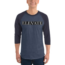 Load image into Gallery viewer, Elevate 3/4 sleeve raglan shirt